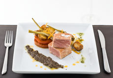 Gourmet tuna dish Stock Photography