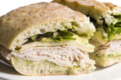 Gourmet turkey sandwich Stock Photo