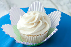 Gourmet Vanilla Cupcake Royalty Free Stock Images
