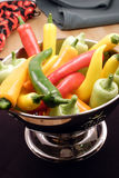 gourmet- varma peppar för chili Royaltyfria Bilder