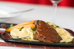 Gourmet Veal Dinner Stock Images