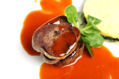 Gourmet veal meat, restaurant food Royalty Free Stock Photos