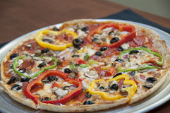 Gourmet vegetable pizza Royalty Free Stock Photography