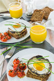 Gourmet vegetarian brunch Stock Photos
