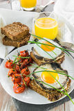 Gourmet vegetarian brunch Stock Images