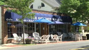 The Gourmet Whaler restaurant (1 of 2). A view or scene from around town stock video footage