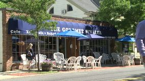 The Gourmet Whaler restaurant (2 of 2). A view or scene from around town stock footage