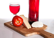 Gourmet wine and dine Stock Images