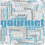 Gourmet word cloud. Concept on white background, 3d rendering Royalty Free Stock Photo
