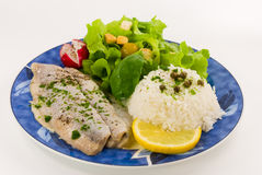 Gourmet young herring fillets royalty free stock photography