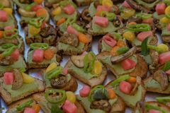 GourmetHors d& x27; oeuvres 10 arkivbilder