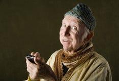 Gourou de téléphone portable Photos libres de droits