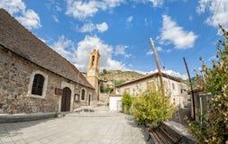 Gourri村庄的教会 免版税图库摄影