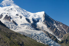 Gouter and Bossons Glacier stock photo