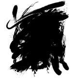 Goutte à l'encre noire Photographie stock libre de droits
