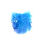 Goutte bleue de peinture d'encre d'aquarelle d'Art Dark Photographie stock