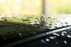 Goutte de pluie dans la saison des pluies image libre de droits