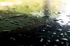 Goutte de pluie dans la saison des pluies photo stock