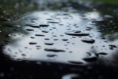 Goutte de pluie dans la saison des pluies image stock