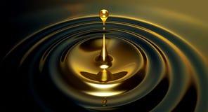Gouttelette d'huile Photographie stock libre de droits