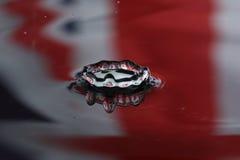 Gouttelette de l'eau - effet de couronne Images libres de droits