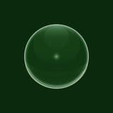 Gouttelette verte de bulles de l'eau Image stock