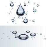 Gouttelettes d'eau sur la glace Images libres de droits