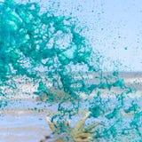 Gouttelettes d'eau vertes Photo stock
