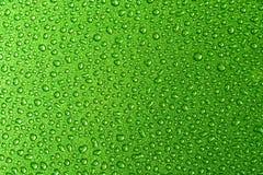 Gouttelettes vertes Photo libre de droits