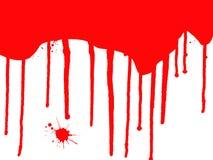 Égouttements de sang Images libres de droits