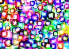 Gouttes colorées abstraites Photos stock