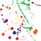 Gouttes de couleur Photographie stock libre de droits