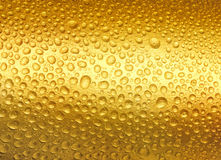 Gouttes de l'eau d'or abstraites. Image stock