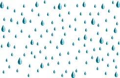 gouttes de pluie à trois dimensions Photo stock