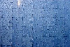 Gouttes de pluie comme puzzle denteux Photos libres de droits
