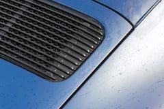 Gouttes de pluie de panneau de véhicule Photo libre de droits