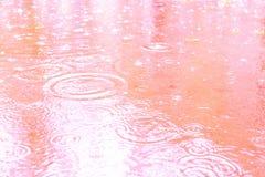 Gouttes de pluie sur un magma un jour pluvieux photo stock