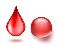 Gouttes de sang Photos libres de droits