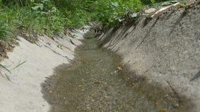 Gouttière de l'eau de route banque de vidéos