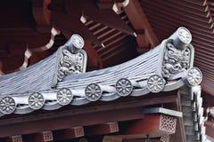 Gouttières de toit de temple japonais Images libres de droits
