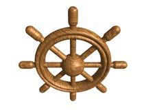 Gouvernail de direction en bois illustration de vecteur