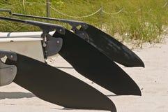 Gouvernails de direction de kayak Photos stock