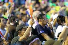 Gouvernement de protestation en Thaïlande Photo stock