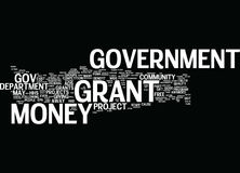 Gouvernement Grant Money Word Cloud Concept Photographie stock