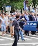 Gouverneur Andrew Cuomo am 55. Jahrbuch 'feiern israelische 'Parade in New York City lizenzfreie stockbilder