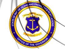 Gouverneur de Rhode Island Seal, Etats-Unis Illustration Stock