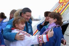 Gouverneur du secteur autonome Dmitry Kobylki de Yamalo-Nenets Image libre de droits