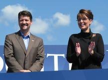 Gouverneur Sarah Palin en Todd Palin Stock Afbeelding