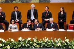 Gouverneur van Aguascalientes de Voorzitter van een Mexicos Stock Foto