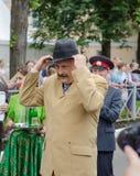 Gouverneur van het gebied A van Leningrad Y Drozdenko bij het festival 89-ste verjaardag Slantsystad Stock Foto's